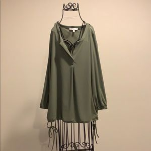 Pea Green Blouse